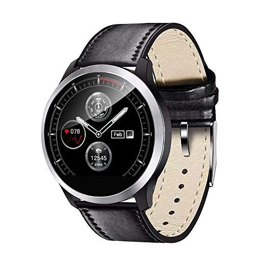 HYLH Smart Watch mit EKG-Playback-Diagramm, Blood Pressure Heart Rate Monitor, Adjustable Brightness Edelstahl-Armband Smartwatch IP68