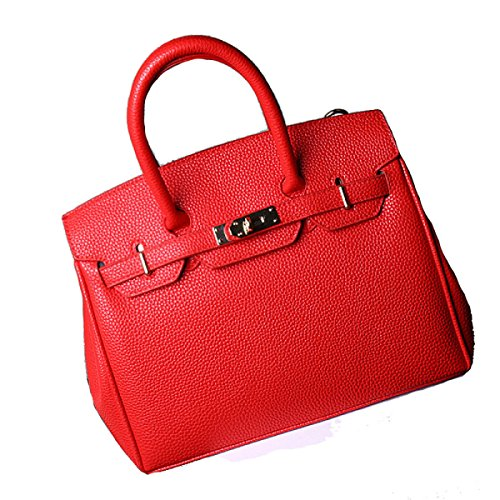 Solido Di Modo Della Signora Di Colore Messenger Bag Multi-color Red
