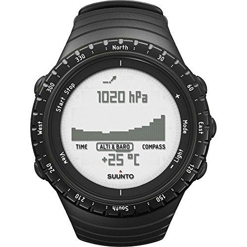 Suunto Core SS014809000 Orologio per l'Outdoor, Unisex, per Tutte le Altitudini, Resistente all'Acqua 30 m, Altimetro, Barometro, Funzioni Meteo, Materiale Composito, Regular Black