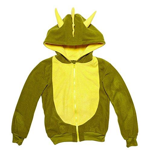 chsenenkostüm Drache, Kapuzenpullover, grün, Größe S / M (Drache-fliegen-kostüm)