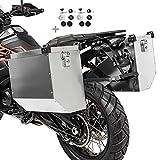 Motorrad Alukoffer Set für Suzuki DR 650 R/RE/RSE/SE Atlas 41l und 36l mit Adapter für 18mm Kofferträger
