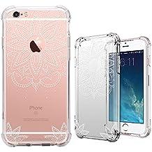 Funda iPhone 6 Plus,Funda iPhone 6s Plus, MISS ARTS Crystal Clear Mandala Flor Cover Borde Suave + Duro Funda Carcasa Case para Apple iPhone 6S/6 Plus -C4