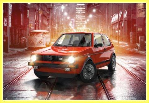 Usato, Macchine Poster Stampa e Cornice (Plastica) - Volkswagen usato  Spedito ovunque in Italia