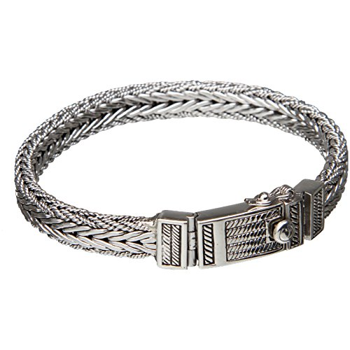Bouddha to Light Handmade Argent Sterling Biker Bracelet Wire eie 359eur