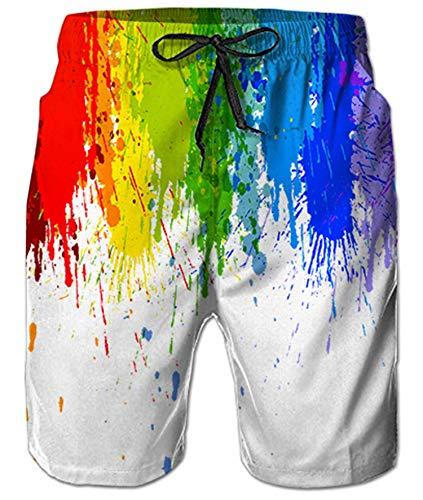 Aideaone uomo colorato traspirante pantaloncini da spiaggia costume da bagno con grafica 3d