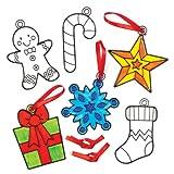 Weihnachtliches Bastelset für Fensterbilder-Anhänger Zum Ausmalen und Individuellen Gestalten für Kinder – Kreatives, weihnachtliches Bastelset (8 Stück)