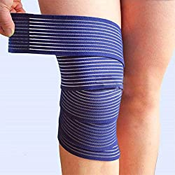 Generic Navy : 1 pcs Adjustable Elastic Bands Ankle Support Spirally Wound Bandage Volleyball Basketball Ankle Orotection 4 Colors
