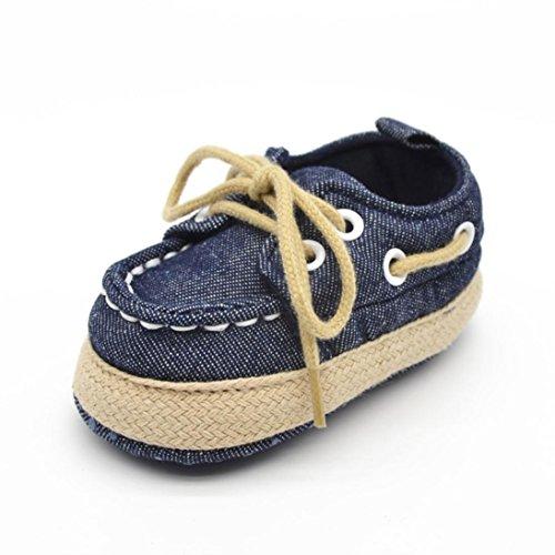Clode® Baby Boy Girl Kleinkind Turnschuhe Freizeitschuhe Weiche alleinigen Schuhe Dunkelblau