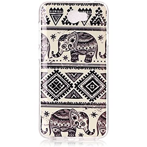 Meet de Caso / copertura / Telefono / sacchetto Per Huawei Y5 II / Y5 2 PU Pelle Case , Huawei Y5 II / Y5 2 Custodia / Cover / Cover Shell / Protettiva Caso / Cover / Protezione / Copertura TPU Per Huawei Y5 II / Y5 2 - elefante