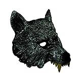 Máscara de Cabeza de Lobo Feroz de Halloween Serie Horrible Fiesta de Baile de máscaras Accesorios Elegantes para recreación Festival Decoración, Gris