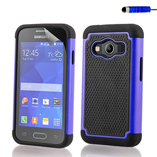 9c99c5a1b32 32nd ShockProof Series - Dual-Layer Shock and Kids Proof Case Cover for Samsung  Galaxy Ace 4 (SM-G357FZ), Heavy Duty Defender Style Case - Deep Blue