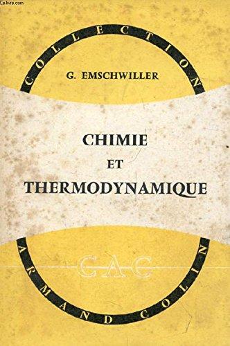 CHIMIE ET THERMODYNAMIQUE