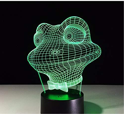 Lyqyzw Led Niedliche Frosch Nachtlicht Lampe 7 Wechselnde Farben Buntes Nachtlicht Kinder Schlafen Lava Lampe Touch Schalter