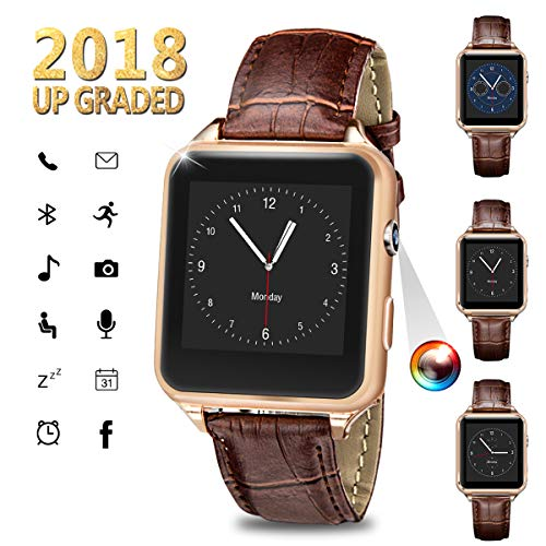 Bluetooth Smartwatch, Sport Uhr Fitness Tracker Wasserdicht, Schrittzähler Uhr, Schlaftracker, Stoppuhr für Herren Damen Alarm Anruf SMS Whatsapp Beachten Kompatible für iPhone Android Handy