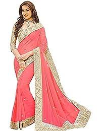 VK Saree Chiffon Saree With Blouse Piece