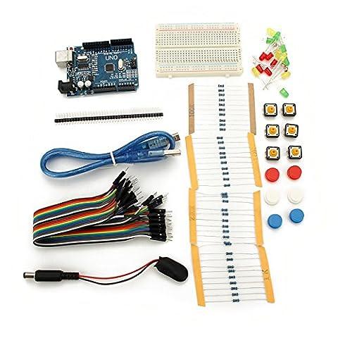 Bluelover Uno R3 Mit Mini Breadboard Led Jumper Widerstand Kit Für Basic Arduino Starter