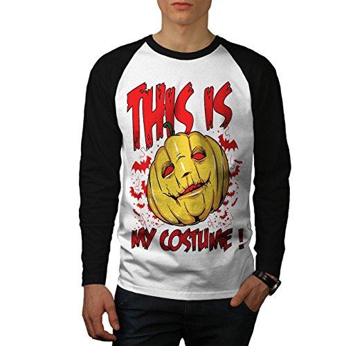 rror Herren XL Baseball lange Ärmel T-Shirt | Wellcoda (Müll-halloween-kostüm)