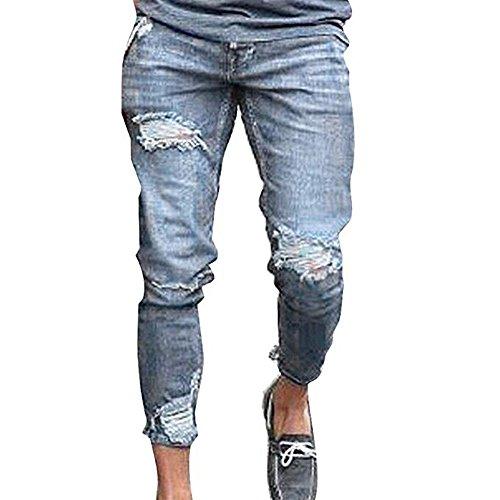Herren Denim-Hosen, Stretch-Röhrenjeans Zerrissene Jeans Schöne Mode-Design Denim-Hosen - Junioren Distressed Skinny Jeans