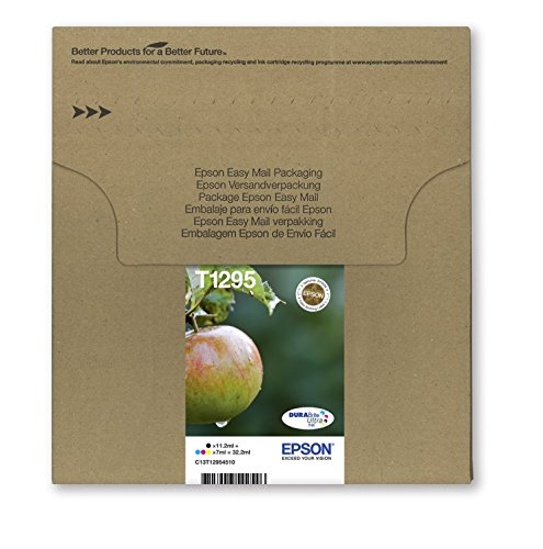 Epson Original T1295 Tinte Apfel, wisch- und wasserfeste  (Multipack, 4-farbig) (CYMK)