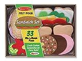 Filz-Lebensmittel-Set für belegte Brote