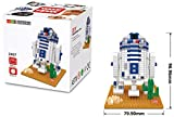 R2D2 figure from Star Wars. Miniblocks assembly kit. 569 miniature blocks.
