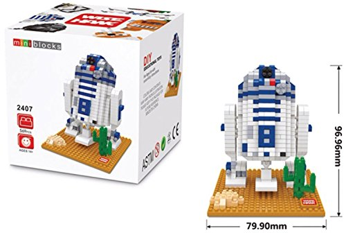 R2D2 figure from Star Wars Miniblocks assembly kit 569 miniature blocks