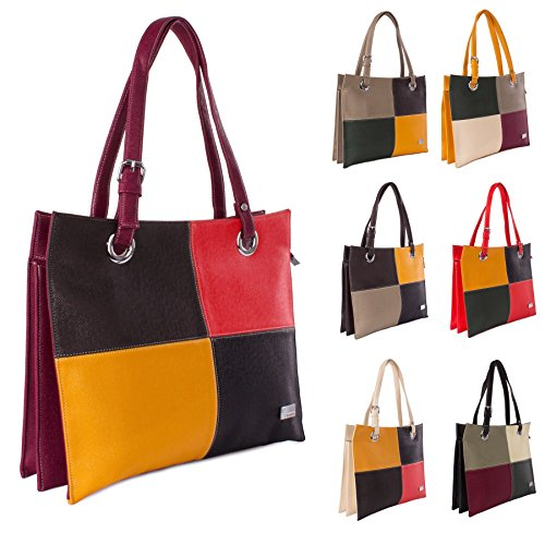 Big Handbag Shop , Damen Henkeltasche Einheitsgröße rot