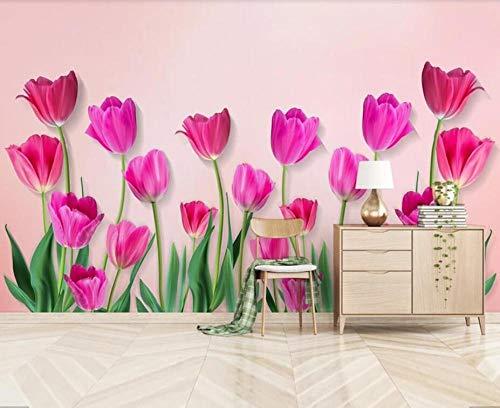 Muraon carta da parati 3d con fiori di papavero murales adesivi murali per la casa soggiorno pittura dipinta a mano carte da parati floreali con rose stampate, 430x300 cm (169,3 x 118,1 in)