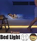 Aitsite 2 PIR Sensore Motion Activated Led Light Bed con Smart Led Strip e timer automatico off, lampada a caldo IP65 impermeabile, sensore di luce 2Motion