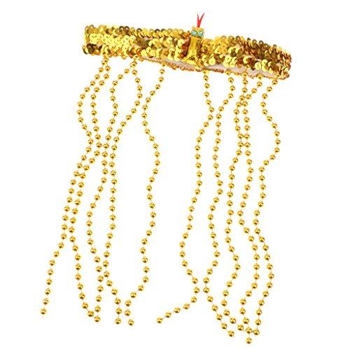 Sharplace Cleopatra Kopfschmuck Ägypterin Haarschmuck Gold Ägyptische Königin Haarkette Fasching Ägypten Göttin Haarkranz Kopfschmuck Römin Griechin Kleopatra Goldschmuck Antike ()