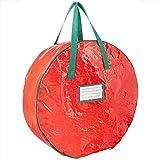 Starter Sac de rangement pour guirlande de Noël avec poignées, sac de rangement rond pour arbre de Noël, sac de rangement pour sac de rangement Sac de rangement pour jouet pour décoration de Noël.