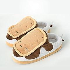 Idea Regalo - Pantofole/Ciabatte Biscotto Riscaldabili/Riscaldate taglia unica