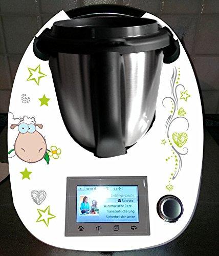 Aufkleber passend für Thermomix TM 5Schaf grüne - Fünf-sterne-küchenmaschine
