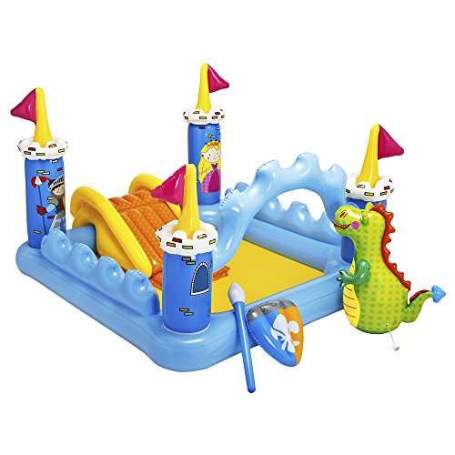 Intex 57138 - Playcenter Castello, 185 x 152 x 107 cm, Giallo/Azzurro