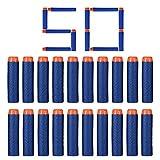 FHD Nerf Refill Kugel Kompatibel Bullet Darts Soft Tip Blasters Kid Spielzeugpistole für Nerf Spielzeug Gun N-Strike Elite Serie 50/100/200/300/400/500/600/1000 Pack Blau (50 Pcs)
