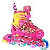 Profun Inline Skates Kinder Damen/MäDchen Verstellbar Rollschuhe Rosa Größe 34 35 36 37