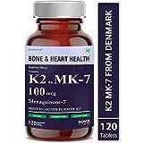 Carbamide Forte Vitamin K2 MK7 100mcg Supplement | Light & Mineral Stable, High Potency Vitamin K2 MK7 from Denmark – 120 Veg Tablets