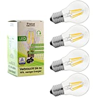 4x National Electronics® | Lampadina E27 6W LED 660 lumen | Dimmerabile | Lampada Set di 1,4,6,10 AC 230V 270° bianco caldo