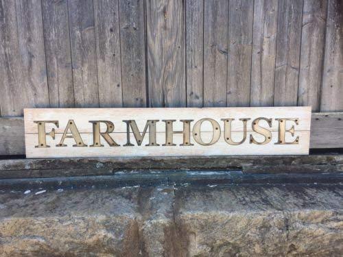 And Farmhouse Schild, handgeschnittene Buchstaben, Industrie-Chic Schild, modernes Landhaus-Stil, rustikales modernes Schild, rustikales Holz-Dekorschild mit Zitaten, Schild, Geschenk für drinnen