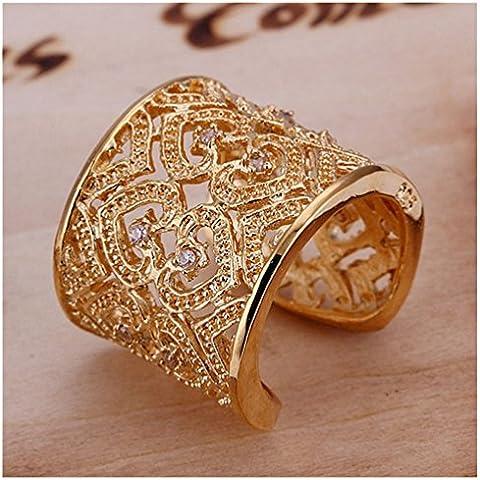 Con incrustaciones de diamante de diseño HMILYDYK 925 plata al amarillo anillo de la joyería
