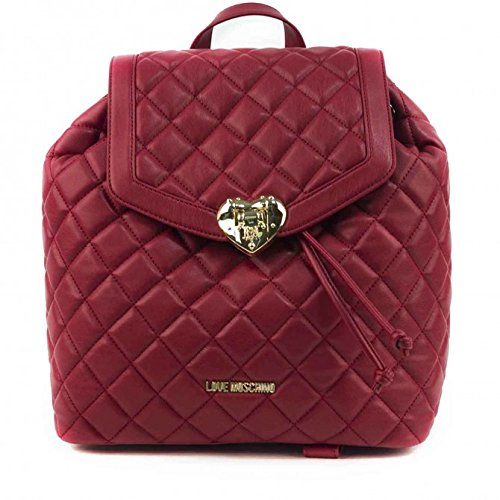 Moschino Borsa Nappa Pu Quilted Dark Red