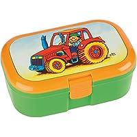 Lunchbox * TRAKTOR mit/ohne WUNSCHNAME * für Kinder von Lutz Mauder // Brotdose mit Namensdruck // Perfekt für Jungen & Mädchen // Farm Bauernhof Vesperdose Brotzeitbox Brotzeit