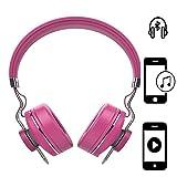 Handy Kopfhörer | für Elephone A1 | CSR 4.0 + EDR Wireless | Stereo Sound Bluetooth Headsett | Kopfhörer Pink ZA1