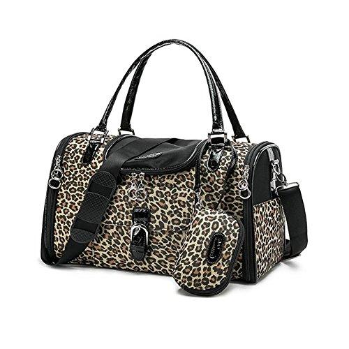 ZZHH Borsa di leopardo stampato zaino portatile gatto cane Pet Carrier . 34cm*22cm*20cm s: