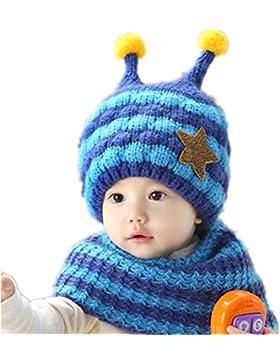 JT-Amigo Babymütze Wintermütze Set mit Schal Biene Motiv