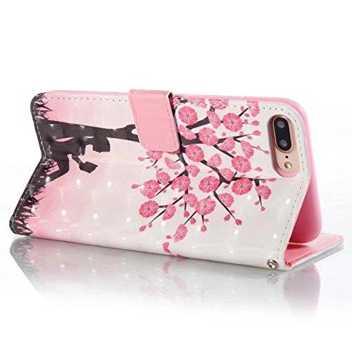 iPhone 7 Plus Hülle, iPhone 8 Plus Hülle, Valenth PU Leder 3D Multi-Partern Brieftasche Hülle mit Standplatz Feature und Card Slots für iPhone 8 Plus / iPhone 7 Plus 8#