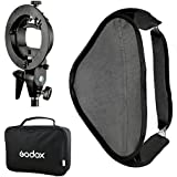 Godox 80x80 Foldable Universal Softbox with S Style Speedlite Bracket for Flash Bowens Mount Accessories Direction Adjustable