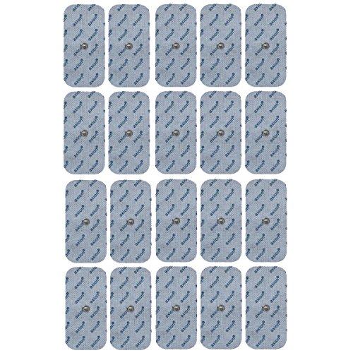 VORRATSPACK: 20 Elektroden/Pads 100x50mm passend zu Sanitas SEM 40/41/42/43/44 und Beurer EM 40/41/49/80 -