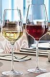 12 Rotweingläser 45cl + 12 Weissweingläser Sublym 35 cl geeicht 0,2 hochwertig stoßfest