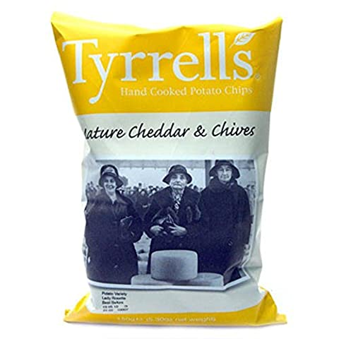 Tyrrells | Cheddar Cheese and Chives | 2 x 24 x 40g